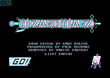 Title screen of the game Wizard Warz on Amstrad CPC