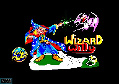 Title screen of the game Wizard Willy on Amstrad CPC
