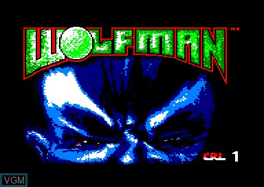 Title screen of the game Wolfman on Amstrad CPC
