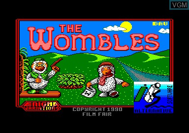 Title screen of the game Wombles on Amstrad CPC