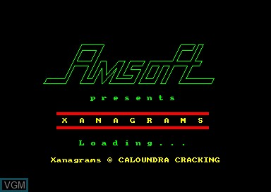 Title screen of the game Xanagrams on Amstrad CPC