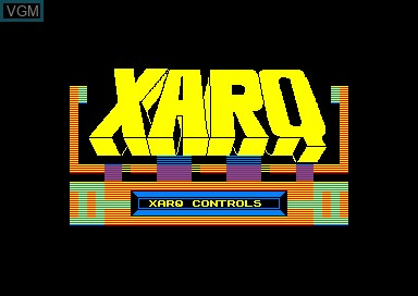 Title screen of the game Xarq on Amstrad CPC