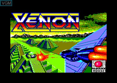 Title screen of the game Xenon on Amstrad CPC