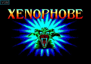 Title screen of the game Xenophobe on Amstrad CPC