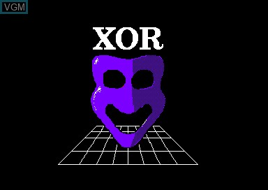 Title screen of the game Xor on Amstrad CPC