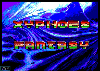 Title screen of the game Xyphoes Fantasy on Amstrad CPC