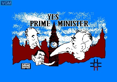 Title screen of the game Yes Prime Minister on Amstrad CPC