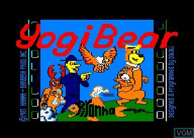 Title screen of the game Yogi Bear on Amstrad CPC