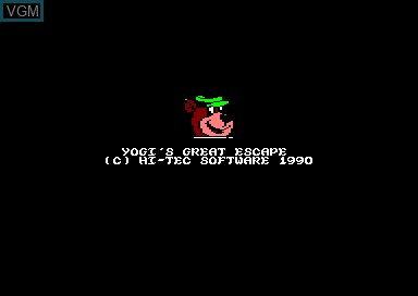Title screen of the game Yogi's Great Escape on Amstrad CPC
