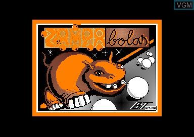 Title screen of the game Zampabolas on Amstrad CPC