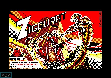 Title screen of the game Ziggurat on Amstrad CPC