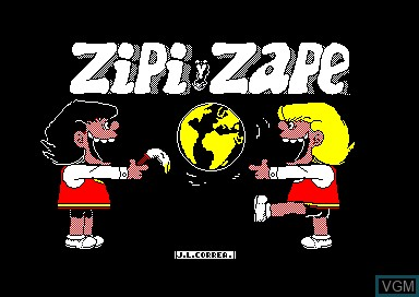 Title screen of the game Zipi y Zape on Amstrad CPC