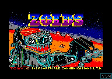 Title screen of the game Zoids on Amstrad CPC