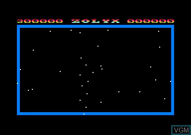 Title screen of the game Zolyx on Amstrad CPC