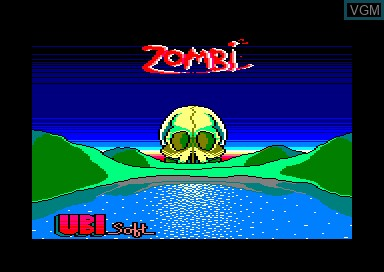 Title screen of the game Zombi on Amstrad CPC