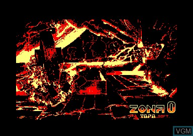 Title screen of the game Zona 0 on Amstrad CPC