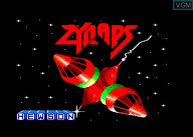 Title screen of the game Zynaps on Amstrad CPC