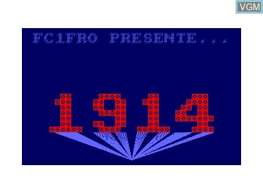 Title screen of the game 1914 on Amstrad CPC