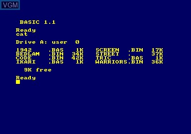 Title screen of the game 1942 & Bedlam & Ikari Warriors & Street Machine on Amstrad CPC