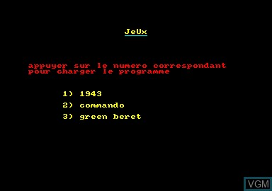 Title screen of the game 1943 & Commando & Green Beret on Amstrad CPC