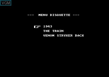 Title screen of the game 1943 & Venom Strikes Back on Amstrad CPC