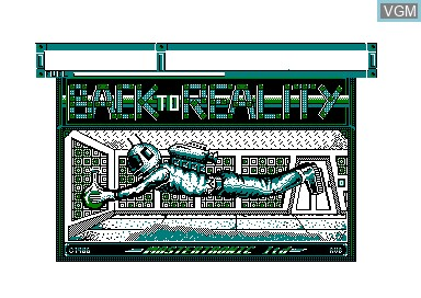 Title screen of the game Back to Reality on Amstrad CPC