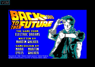 Title screen of the game Back to the Future on Amstrad CPC