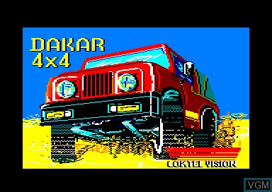 Title screen of the game Dakar 4x4 on Amstrad CPC