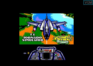 Title screen of the game F-1 Tornado Simulator on Amstrad CPC