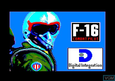 Title screen of the game F-16 Combat Pilot on Amstrad CPC