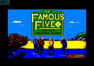 Title screen of the game Famous Five, The on Amstrad CPC