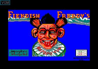 Title screen of the game Fiendish Freddy's Big Top o' Fun on Amstrad CPC
