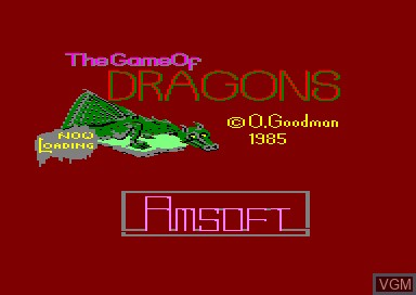 Title screen of the game Game of Dragons, The on Amstrad CPC