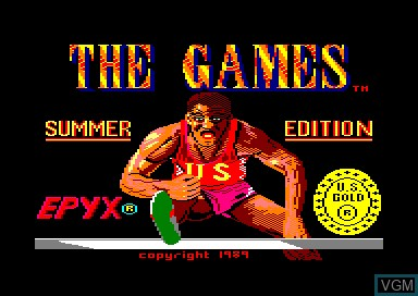 Title screen of the game Games, The - Summer Edition on Amstrad CPC