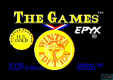 Title screen of the game Games, The - Winter Edition on Amstrad CPC