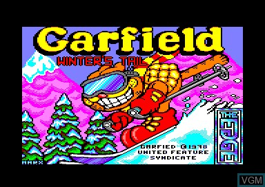 Title screen of the game Garfield 2 - Winter's Tail on Amstrad CPC
