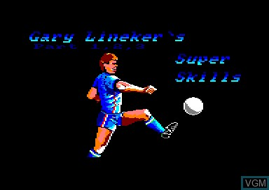 Title screen of the game Gary Lineker's Super Skills on Amstrad CPC