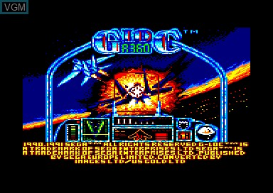 Title screen of the game G-Loc on Amstrad CPC