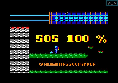 Title screen of the game S.O.S. 100 on Amstrad CPC
