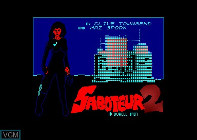 Title screen of the game Saboteur 2 on Amstrad CPC