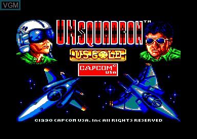 Title screen of the game UN Squadron on Amstrad CPC