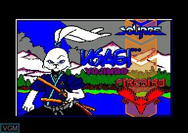 Title screen of the game Usagi Yo Jimbo - Samurai Warrior on Amstrad CPC