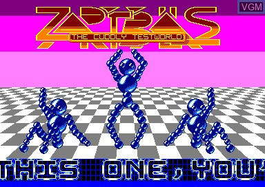 Title screen of the game Zap't'balls Advanced Edition on Amstrad CPC