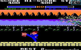 Menu screen of the game Yie Ar Kung Fu 2 on Amstrad CPC