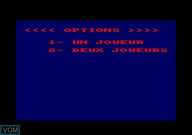 Menu screen of the game 1914 on Amstrad CPC