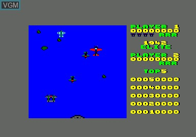 Menu screen of the game 1942 & Billy La Banlieue & Bombjack & Green Beret on Amstrad CPC