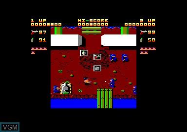 Menu screen of the game 1942 & Bedlam & Ikari Warriors & Street Machine on Amstrad CPC