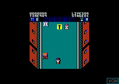 Menu screen of the game 1943 & Action Fighter & Activator & Amstra' Dames on Amstrad CPC