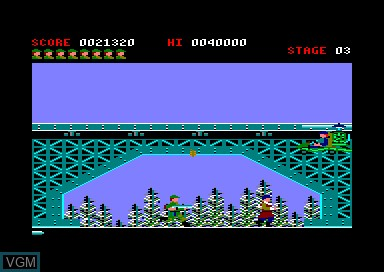 Menu screen of the game 1943 & Commando & Green Beret on Amstrad CPC