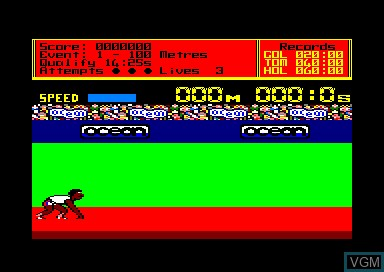Menu screen of the game 1943 & Daley Thompson's Decathlon & Titus Classiques I on Amstrad CPC
